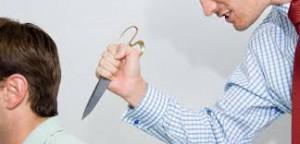 Das Messer im Rücken