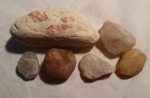 Kiesel- und Flußsteine