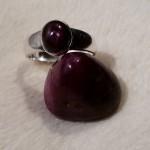 Rubin - Trommelstein und Ring